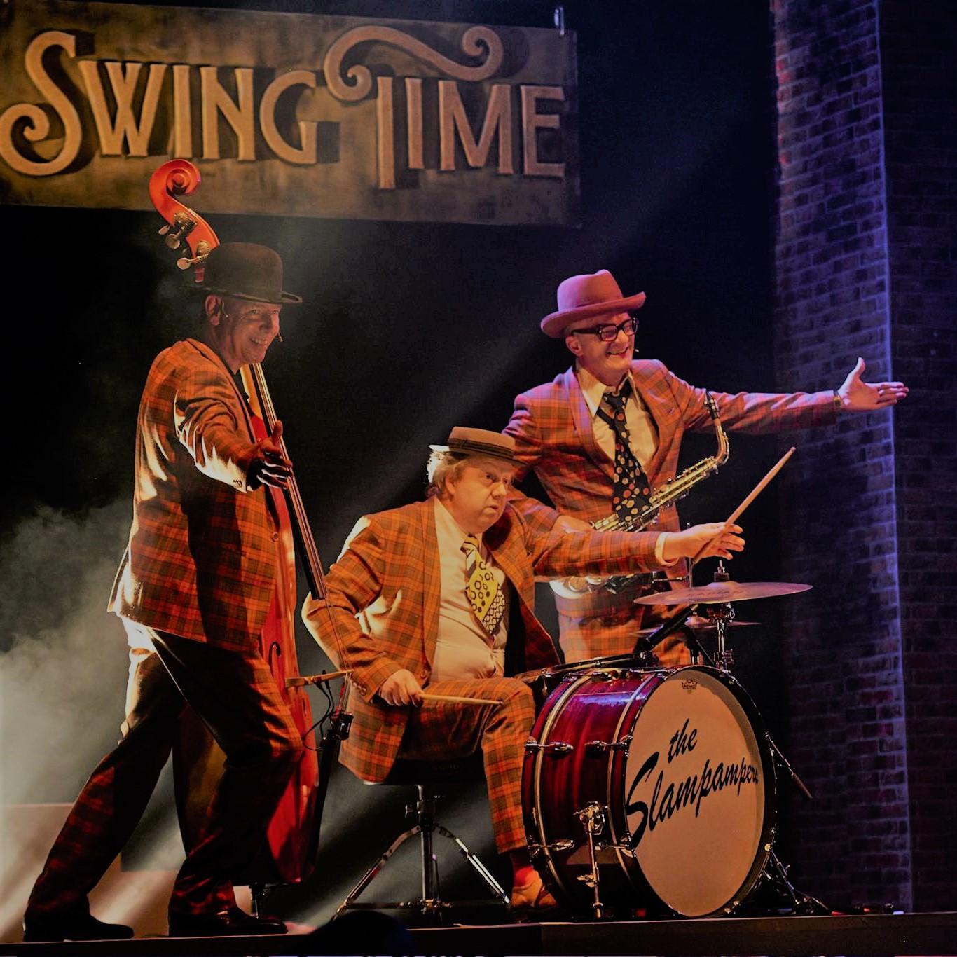 jazz straattheater. Gatsby stijl muziek trio