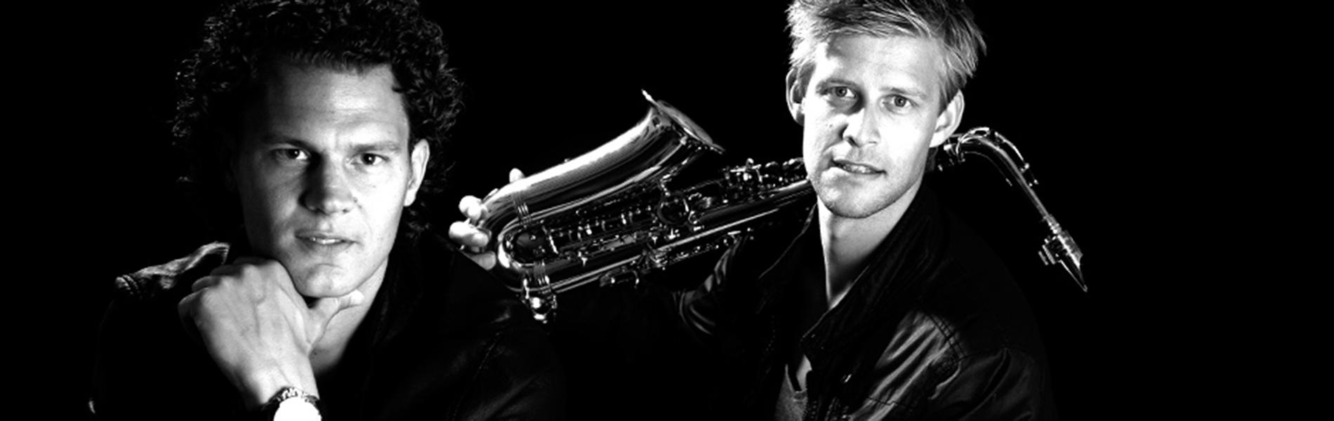 Wayland and Falco on sax header 1
