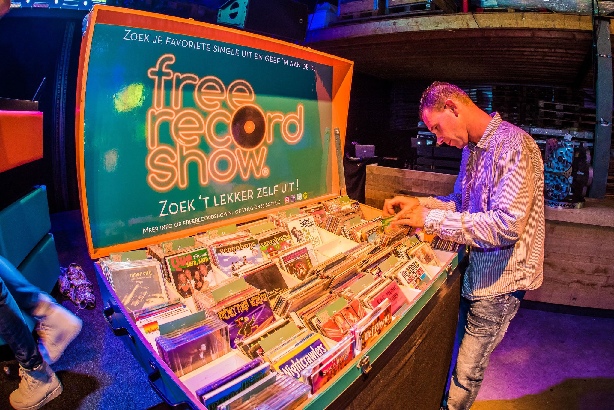 Free Record Show Feest Galvano jublieum
