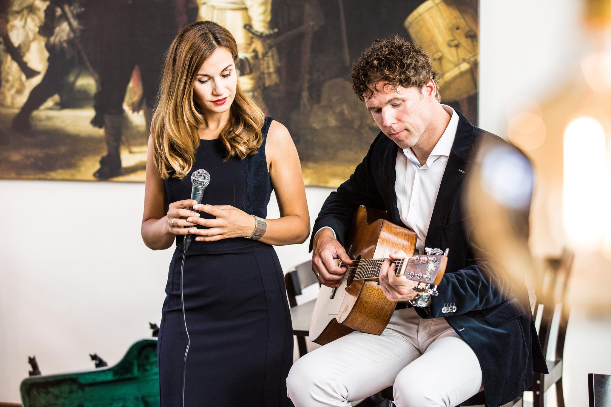 Lace muzikaal duo gitaar zangeres