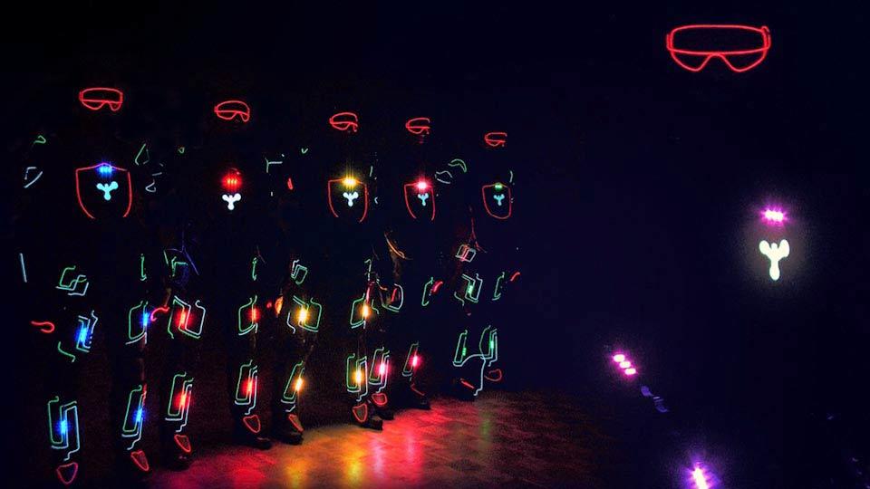 EL Dancers Openingsshow, dansers op een rijtje