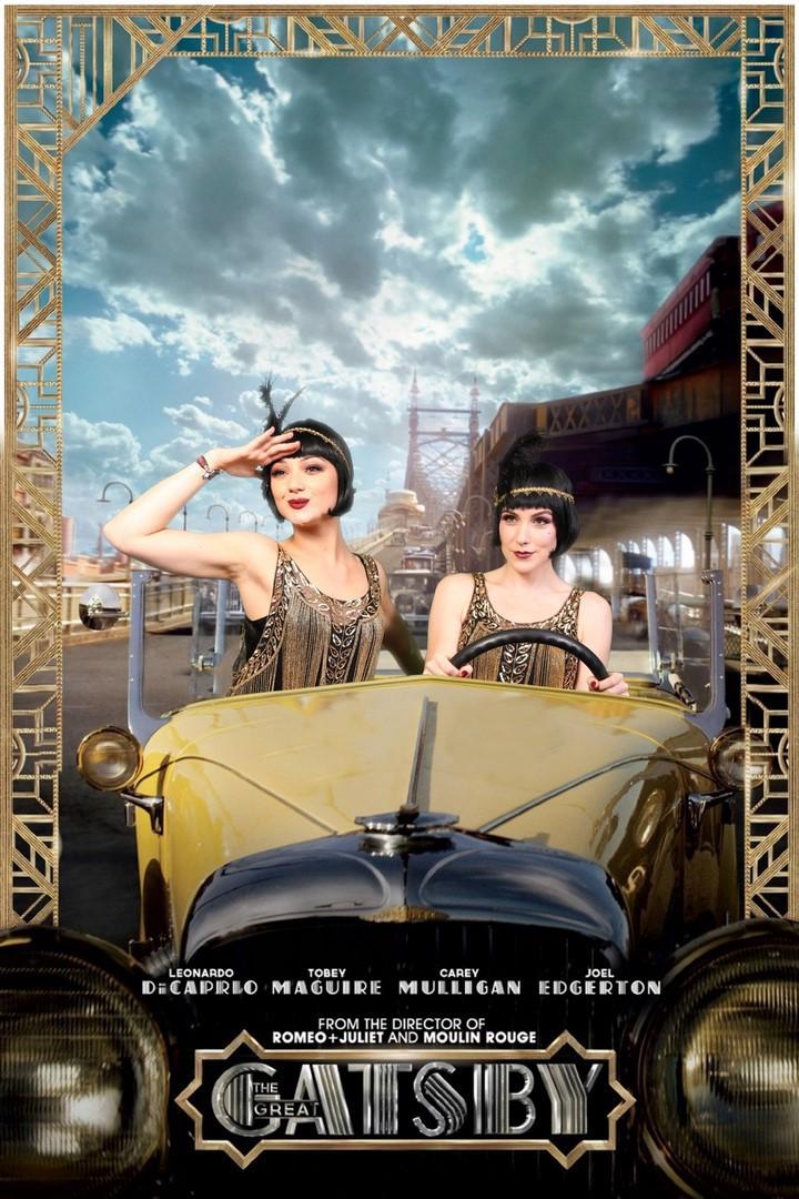 Green screen fotostudio met Gatsby achtergrond en Gatsby auto