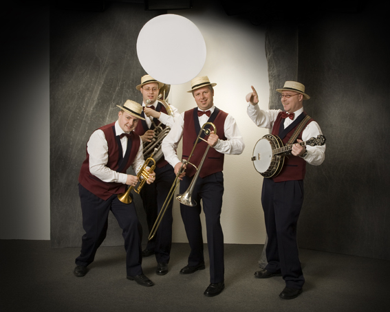 MC Dixie dixieland band persfoto