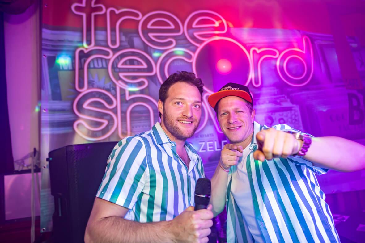 DJ Maurice en DJ Sebas in Free Record Show