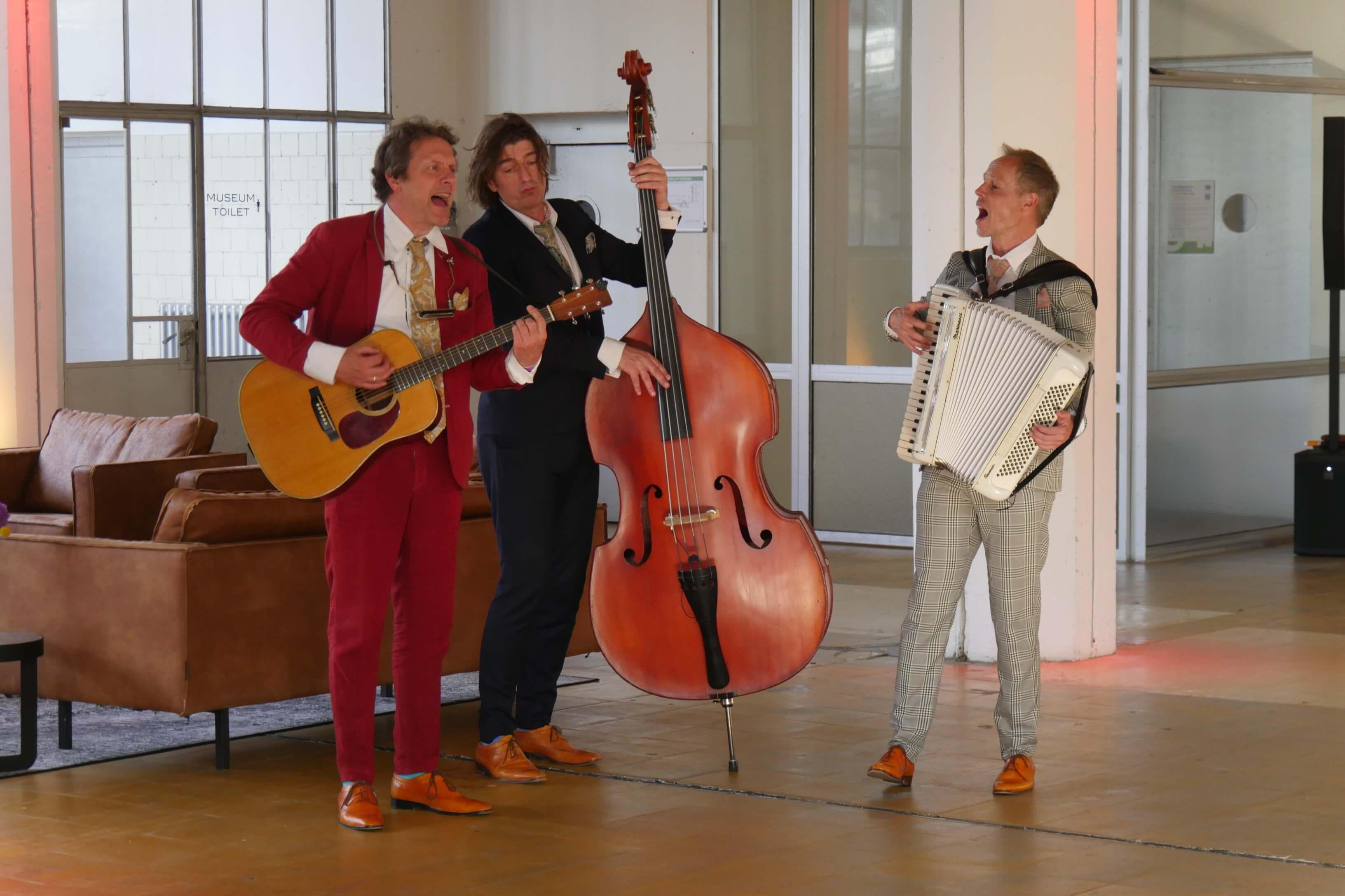 Muzikanten van trio Twips