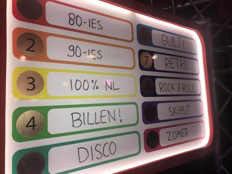 legendabord hitjes bingo