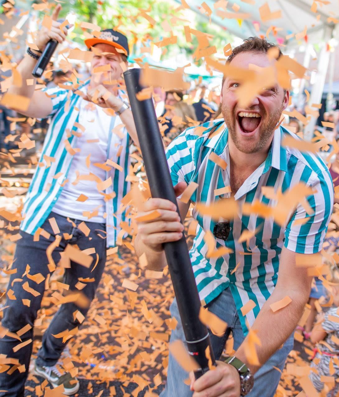 DJ Maurice en Sebas confetti