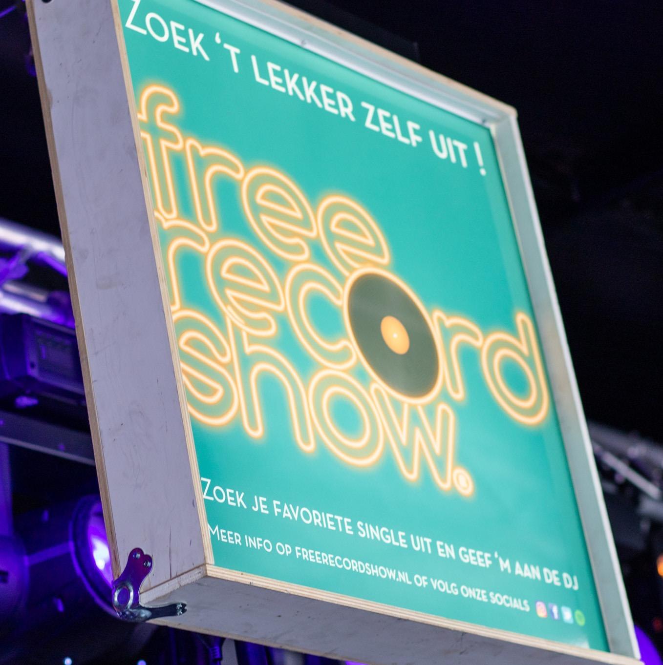 Free Record Show reclame bord