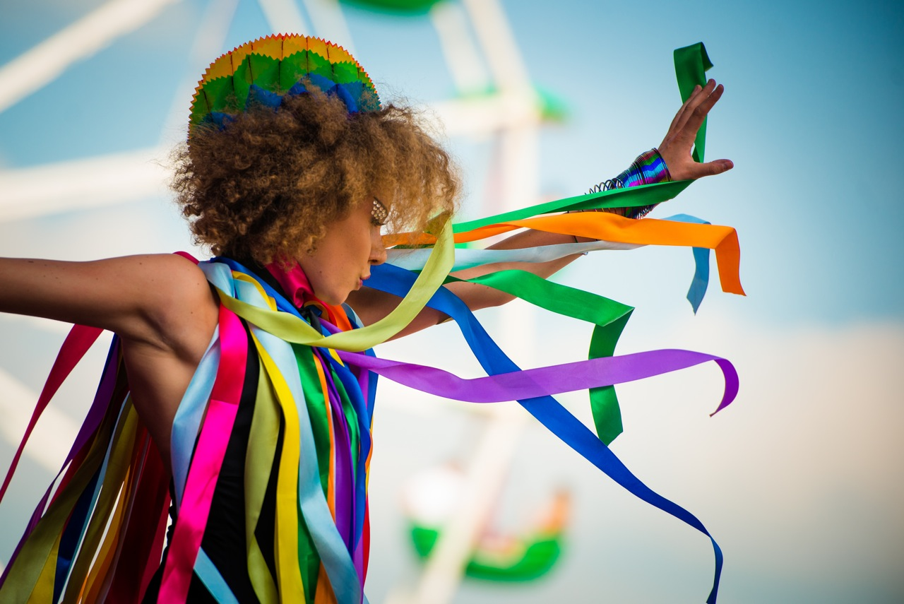 Danseres zomerse kleuren