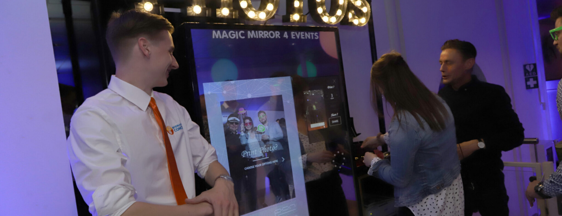 magic mirror fotospiegel met host